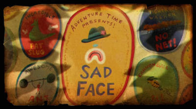 Adventure Time Sad Face Title Card