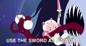 Bee and Puppycat Use the Sword as a Sword